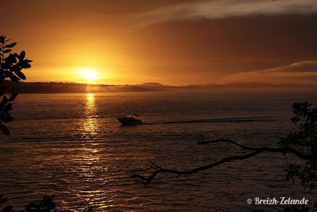 Mount-Maunganui- coucher de soleil