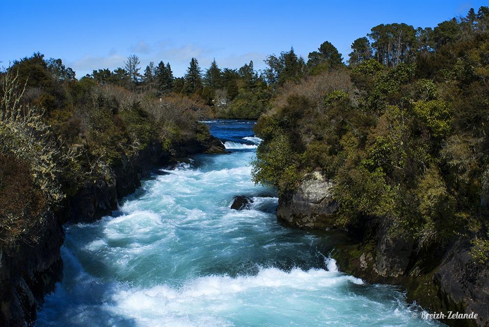 Waikato River et Huka Falls à Rotorua