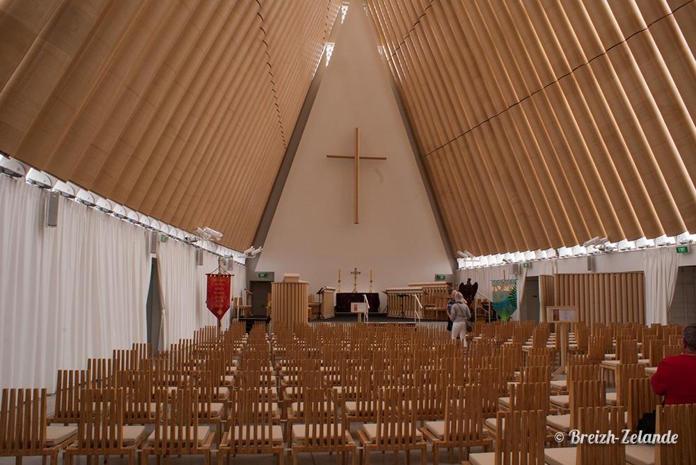Eglise en carton de Christchurch Nouvelle zelande