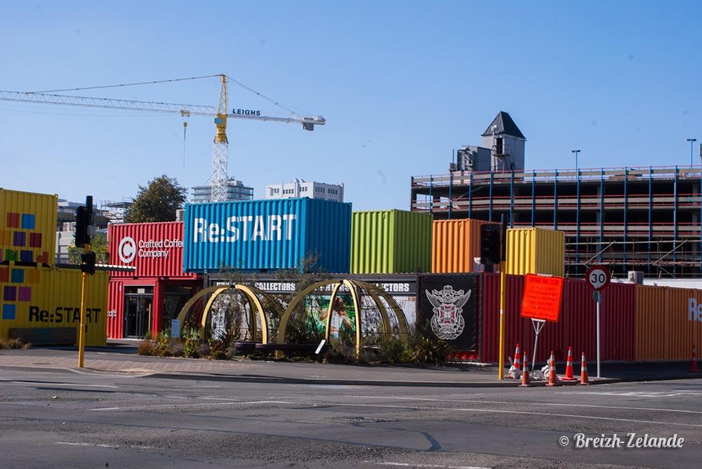 Le centre commercial de containers christchurch