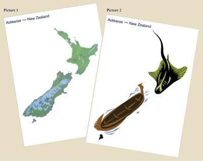 L'île du nord et le poisson de Maui