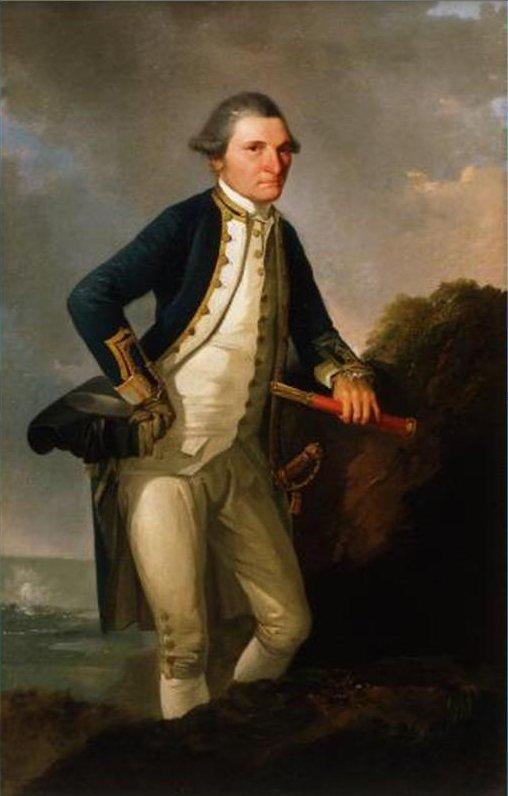 James Cook peinture Nouvelle-Zélande
