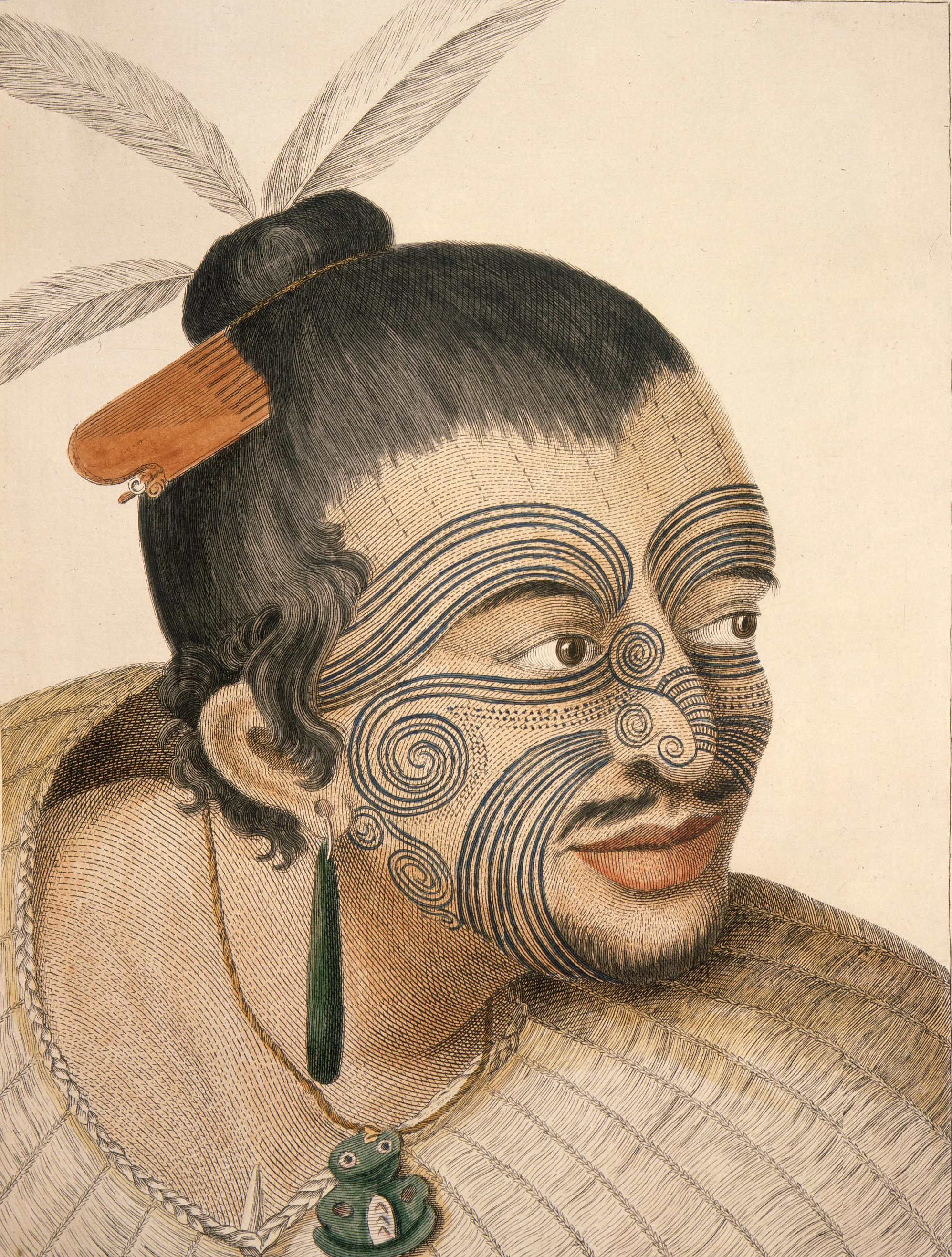 Portrait maori James Cook